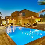 Swimming pools are prominent features in the UAE's landscape