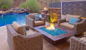Infusing the elements of water with fire is the prefect way to take your landscape design to the next level - using fire pits, fire pots and fire lines.